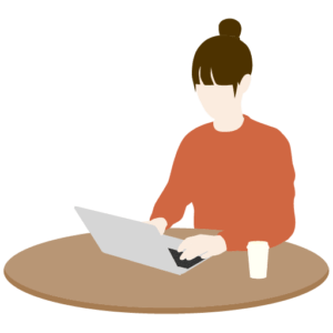 PCで作業する女性webデザイナー